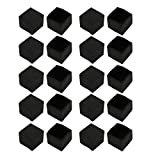 uxcell 20Pcs Furniture Table Chair Square Rubber Leg Tip Cap 25mm x 25mm