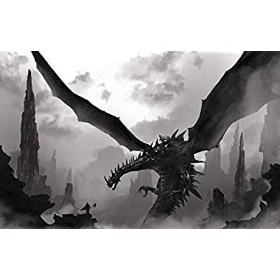 Jigsaw Puzzle 1000 Piece Black Dragon Knight and Grim Reaper Adult Puzzle Kids Puzzle Wooden Puzzle Toy DIY Kit Home Decor 75x50cm: Toys & Games