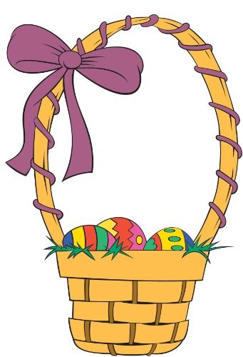 Easter Basket Wall Decal Cutout 50