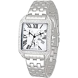 Moog Paris - Think Different - Women / Men Chronograph Watch with silver dial, silver strap in stainless steel - - Made in France - M44274F-002