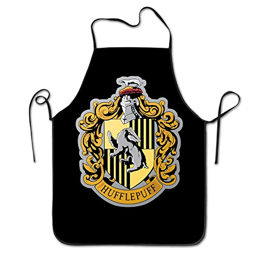 Harry Potter Hufflepuff Badger Easy Clean Kitchen Chef Apron Restaurant (Easy Comfortable Costumes)