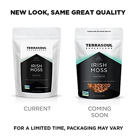 Terrasoul Superfoods Irish Moss (Wildcrafted, Raw) (12 Ounces)