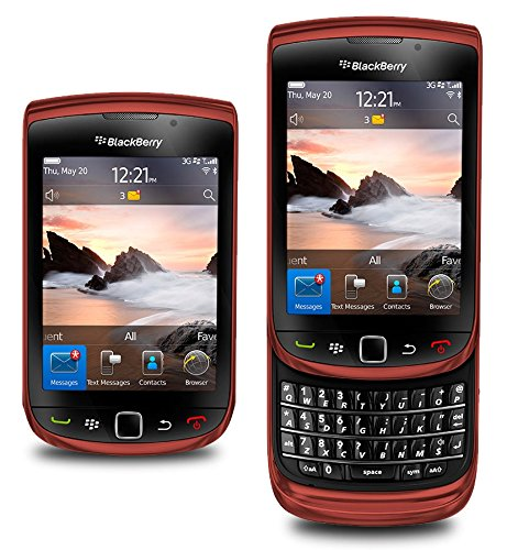 Blackberry 9800 Torch Unlocked Slider Qwerty Touch Screen 5 Mega Pixel Wifi Gps Color : Red