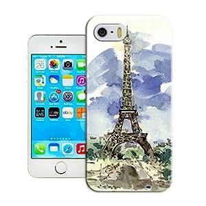 LarryToliver Creative Design Snap on Customizable Eiffel Tower Cheap unique iphone 5/5s Durable Plastic Case Cover