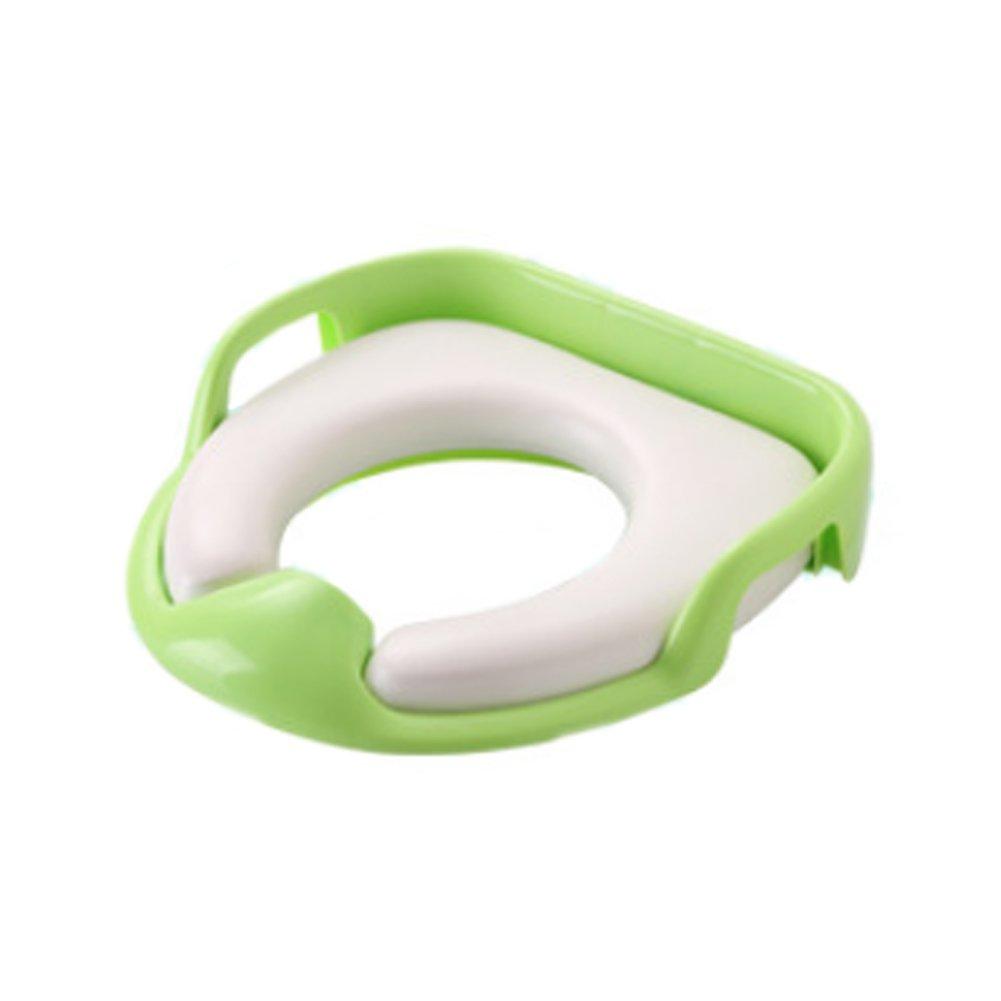 Newin Star Asiento de Inodoro, Tapa WC Plegable para Niños, Asiento Reductor para bebé, Toilet Trainer Seat portátil adecuado para mayoría de tamaños de inodoro(Verdor)
