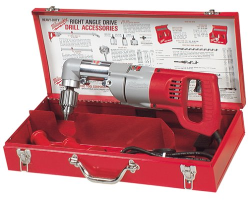 D-handle Right Angle Drill (Milwaukee 3102-6 Plumbers Kit 7 Amp 1/2-Inch Right Angle Drill with D-Handle)