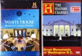 The History Channel Washington DC 2 Pack : The White House Behind Closed Doors , Great Monuments of Washington D.C. : The White House, the Presidential Memorials, War Memorials