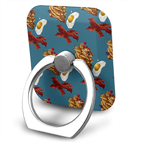 Cell Phone Holder Stand Breakfast Time 360 Degrees Rotation Universal Finger Grip for All Phones