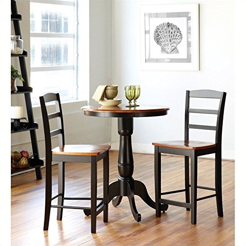 International Concepts 3-Piece 30-Inch Round Table with 2 St