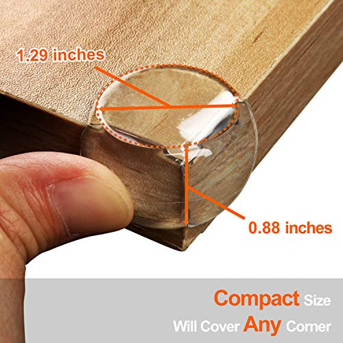 Corner Protector, Baby Proofing Corner Guards, Keep Child Safe, Protectors for Furniture Against Sharp Corners (12 Pack) by CalMyotis by CalMyotis (Image #3)