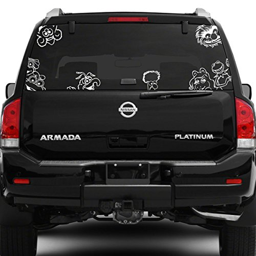 """Titans unique design Muppets Car Decal, Silver, 7"""" H x 7"""" W, Die Cut Vinyl Decal for Windows, Cars, Trucks, Tool Box, Laptops, MacBook- Virtually Any Hard, Smooth Surface"""