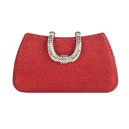 Handbag Wedding Banquet Bag Crossbody of Dinner Multicolor Wild Selection Bag Use Bridal Clutch Hand Bag Red Phone LYMYY Evening Daily Shoulder Dress Mobile Iv4wSqw