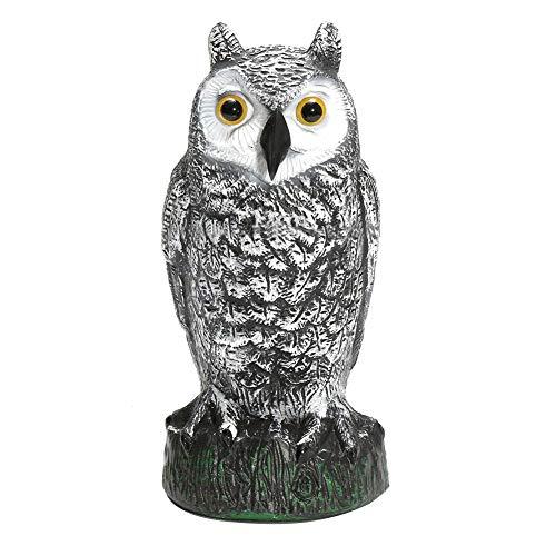 lzndeal Owl Toy,Hunting Bait,Animal Toy, Fake Owl Decoy Hunting Deterrent Bird Cat Crow Scarer Repeller for Garden.
