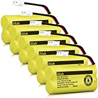 iMah Ryme B2-1 BT800 BT8300 Cordless Phone Batteries for Vtech CS6209 CS6219 CS6229 DS6121 DS6221 Motorola L601M L602 L603M L701 L702M L903 L513CBT DECT 6.0 Home Handset Telephone (Pack of 6)