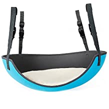ZeHui Safe Comfortable Oval Cat Hammock Hanging Bed Breathable Cages Blue (without Mat)