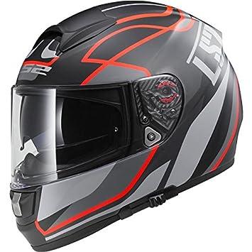 LS2 FF397 Vector Moto Casco Integral – Vantage Mate Negro/Rojo