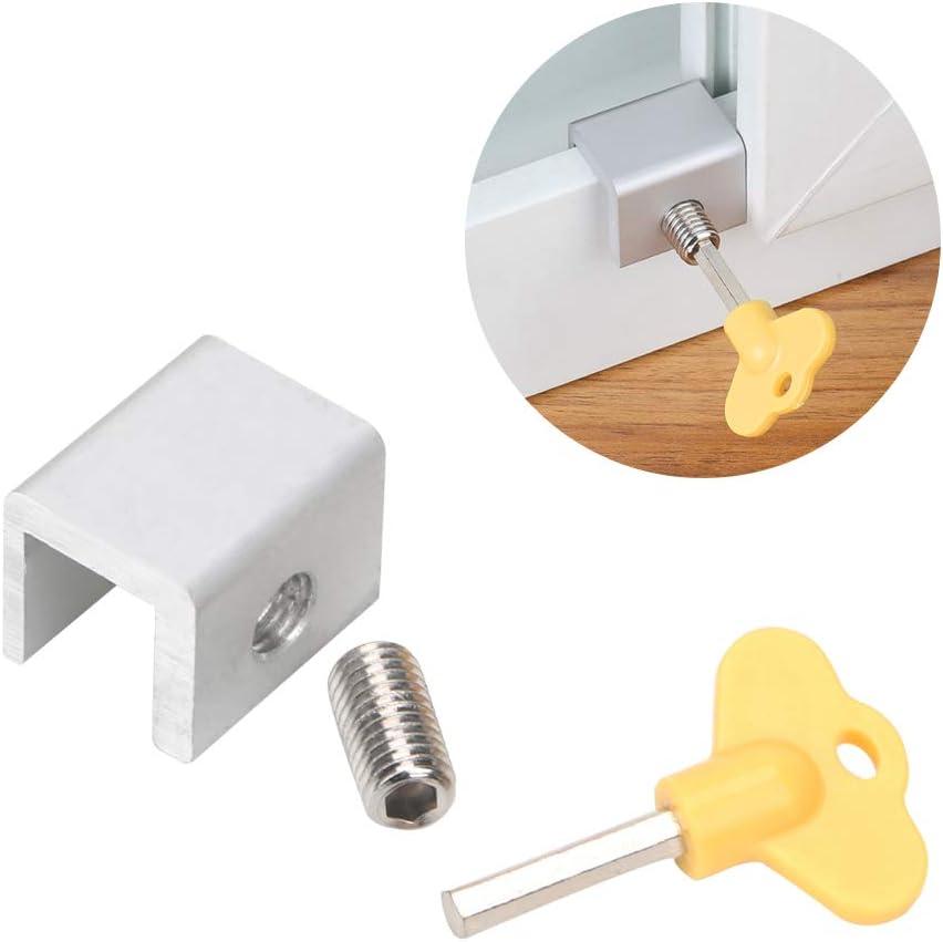 Runy - Cable de Seguridad para Ventanas, de Aluminio, para niños, con Cerradura de Seguridad para Puerta, Ventana, Tope Deslizante