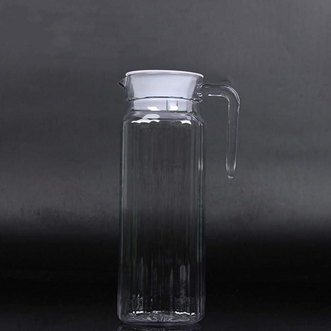 Botella de agua fría de acrílico fumak transparente para agua de zumo y cerveza: Amazon.es: Hogar