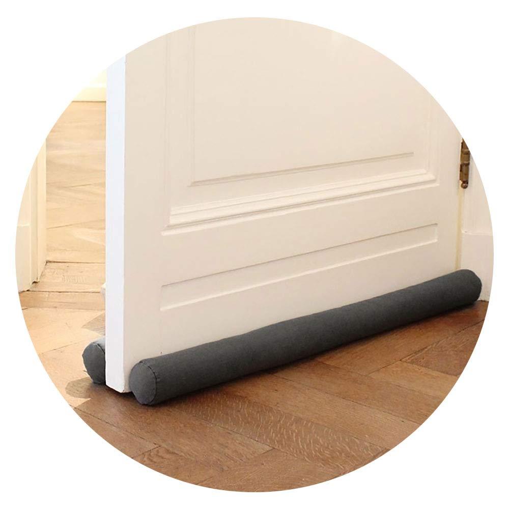 Lirrco Draft Stopper Doppio 80 cm per Porte – Fermaporta per Protezione – Guarnizione del Pavimento della Porta Grigio – Ferma trazione da trazione e Rumore