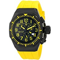 Swiss Legend Men's 10540-BB-01-YA Trimix Diver Chronograph Black Dial Yellow Silicone Watch