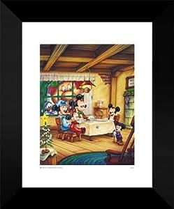 Disney framed art print 18x15 mickey 39 s for Christmas wall art amazon