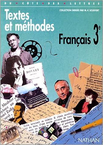 Amazon Fr Francais 3eme Textes Et Methodes Collectif