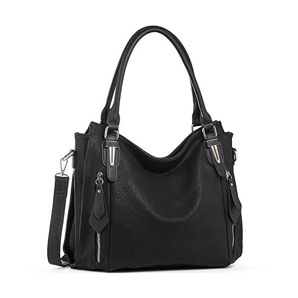 d059e256b76a Handbags for Women Shoulder Tote Zipper Purse PU Leather Top-handle Satchel Bags  Ladies Medium