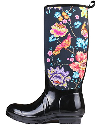 Neoprene Boots Rain Women Flower with Waterproof Boots Rubber Triple Particular Deer Snow Lightweight Women SvxXwWECq