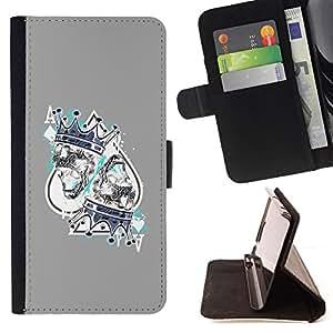 Stuss Case / Funda Carcasa PU de Cuero - Juego Rey Corazones Tarjetas Poker - HTC One A9
