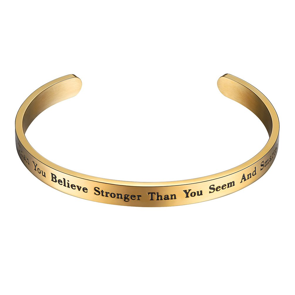 PROSTEEL Gold Plated Cuff Bracelet Women Bible