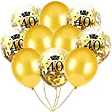 Inkach- Confetti Balloons, 10pcs 12'' Latex Party Balloons for Baby Shower Birthday Decor (F)