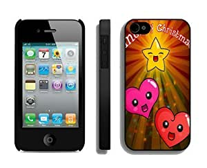 2014 New Style iphone 5c Protective Skin Case Merry Christmas iphone 5c 4S Case 14 Black