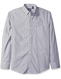 Men's Premium Performance Natural Stretch Gingham Long...
