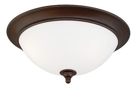 Amazon.com: Vaxcel iluminación C0035 Lorimer 3 luz 17