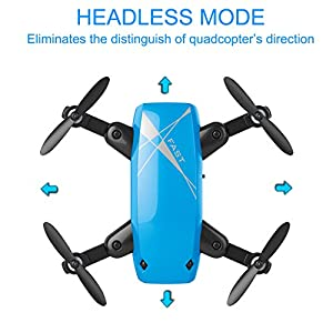 IMZ Mini Pocket Drone - Headless Mode & Altitude Hold with WIFI Camera 2.4Ghz Gyro 4CH RC Quadcopter for Beginner - Blue from Hong Da