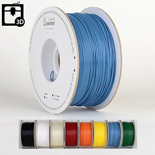 Smartbuy 1.75mm Smurfs Blue PLA 3D Printer Filament - 1kg Spool/Roll (2.2 lbs) - Dimensional Accuracy +/- 0.05mm