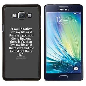 LECELL--Funda protectora / Cubierta / Piel For Samsung Galaxy A7 A7000 -- gris blanco cita inspiradora Jesús dios --