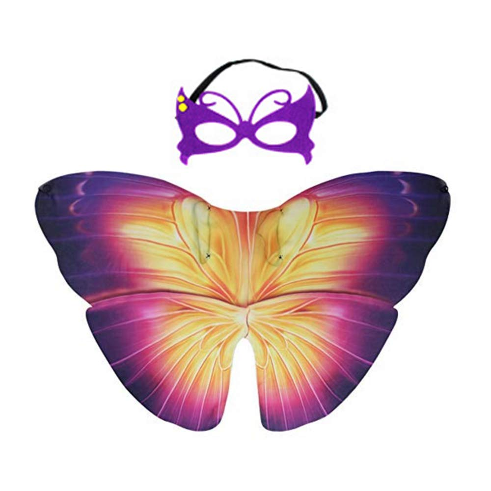 ADSRO Children's Toddler Butterfly Angel Wings Costume and Felt Mask, Toddler Animal Dress Up Role Playing Halloween Kids Gift