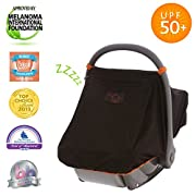 SnoozeShade Universal Car Seat Canopy | Blocks 99% of UV with 360-degree protection | Unisex Baby Car Seat Cover |