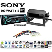 Volunteer Audio Sony MEX-XB100BT Double Din Radio Install Kit with Bluetooth, CD Player, USB/AUX Fits 2004-2010 Toyota Sienna -(Not For Amplified Vehicles)