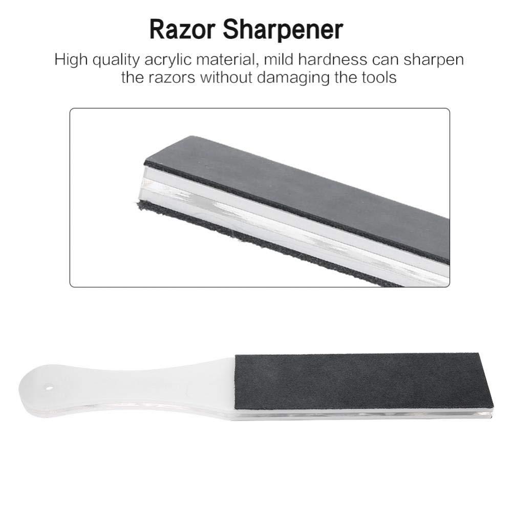 Correa de cuero de afeitar, hombres multifuncionales zurriago de cuero genuino Afilado de la cuchilla de afeitar navaja de afeitar cuchillo de afeitar ...