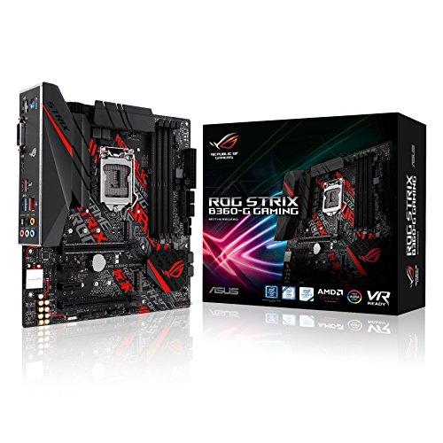 ASUS ROG STRIX B360-G GAMING V1.0 - Placa base (zócalo Intel 1151, Intel B360 Chipset, 4 x DIMM, Máx. 64 GB, DDR4, 2666/2400/2133 MHz Non-ECC, Un-buffered)