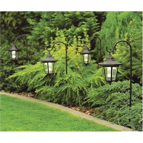 2 X Solar Garden Shepherd Coach Light Lanterns With Hooks: Amazon.co.uk:  Garden U0026 Outdoors