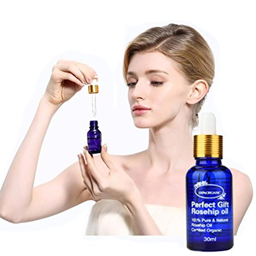 Besde Hyaluronic Acid Moisturize Natural Rosehip Oil Collagen Strong Anti Wrinkle Serum (A, Blue)