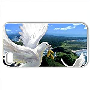 Above The Sea - Case Cover for iPhone 4 and 4s (Sky Series, Watercolor style, White)