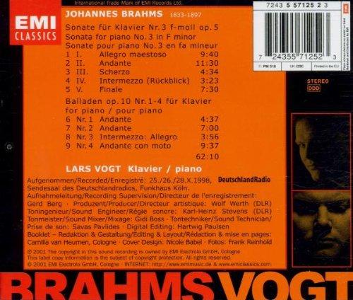 Brahms: Piano Sonata Op. 5; Ballades Op. 10 by EMI Classics