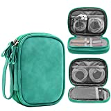 Honeystore Double Layer Gadget Organizer Universal Travel Gear Electronics Accessories Bag Electronics Carrying Case for USB Cable, Flash Drive, Hard Disk, Earphone, SD Card, Power Bank and More Green