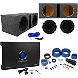 2) PLANET AUDIO AC10D 10 3000W Subwoofers+Vented Sub Box+2 Ch.Amplifier+Amp Kit