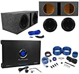 2 PLANET AUDIO AC10D 10' 3000W Subwoofers+Vented Sub Box+2 Ch.Amplifier+Amp Kit