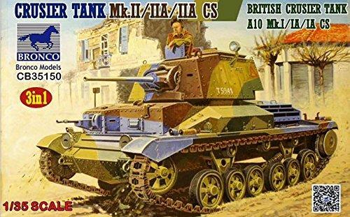 Bronco Models 1/35 British Cruiser Tank Mk. II, IIA IIA CS 3 IN 1 CB35150 ()